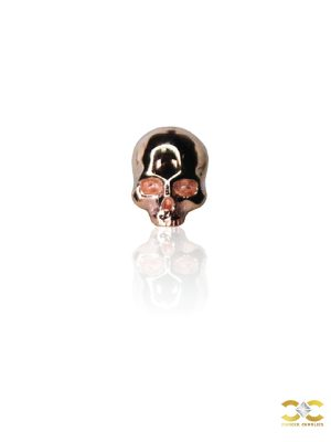 FoesJewelry Cranium Threaded Stud Earring, 14k Rose Gold