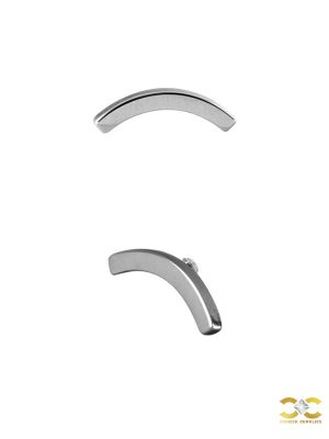 Curved Stick Threaded Stud Earring, Steel
