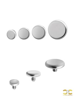 Plain Disc Threaded Stud Earring, Titanium