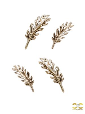 Auris Phoenix Threaded Stud Earring, 14k Yellow Gold