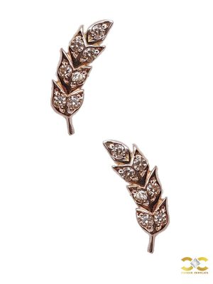 Auris Firebird Threaded Stud Earring, 14k Rose Gold