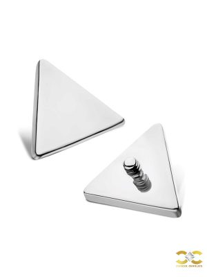 Triangle Threaded Stud Earring, Titanium