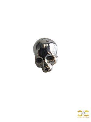 FoesJewelry Cranium Threaded Stud Earring, 14k White Gold