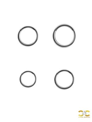 Gold Clicker Hoop, Nose Ring, 20g, 18k White Gold