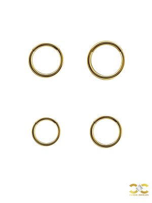 Gold Clicker Hoop, Nose Ring, 20g, 18k Yellow Gold