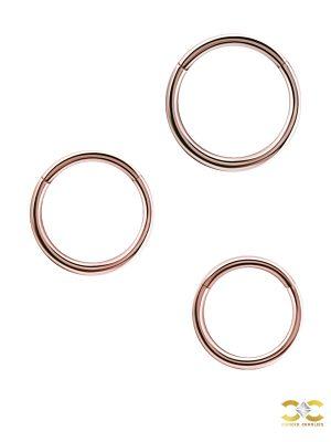 Gold Clicker Hoop, 18g, Medium, 18k Rose Gold