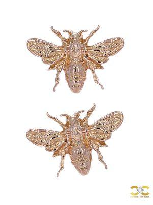 Anatometal Bee Push-In Stud Earring, 18k Rose Gold
