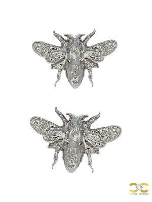 Anatometal Bee Push-In Stud Earring, 18k White Gold