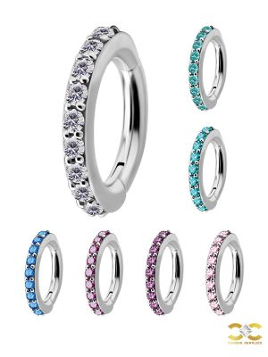 Eternity Pave Belly Clicker, Titanium