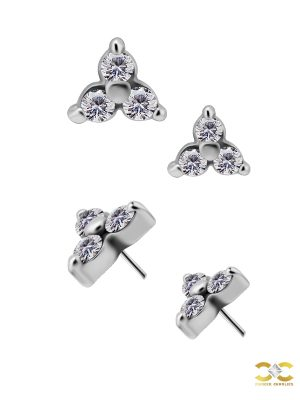 Trinity Push-In Stud Earring, CoCr NF