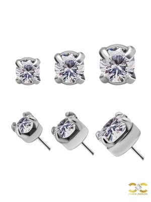 Prong Set Swarovski Push-In Stud Earring, CoCr NF