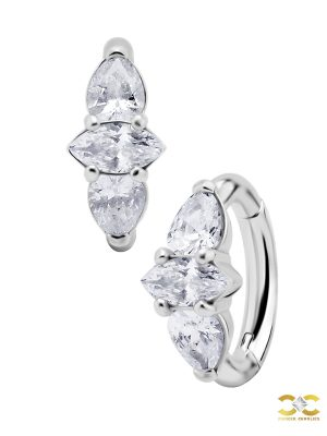 Marquise Pear Cluster Belly Clicker, CoCr NF