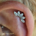 White Gold 5-Marquise Fan on the Helix