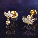 Gold Marquise Fan Stud