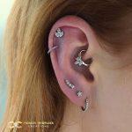 Super Sparkly Ear, in Steel Piercing Jewellery