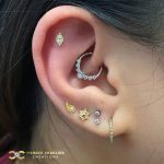 Yellow and White combination of Beautiful Piercing Jewellery