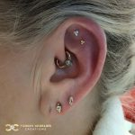Delicate Yellow Gold Piercing Curation