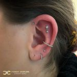 Double Helix with 4-Bead and Bezel Set Swarovskis