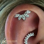 White Gold Marquise Fan