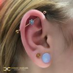 Industrial with Opal Flower