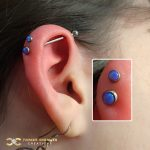 Industrial Barbell with a Flat Opal top