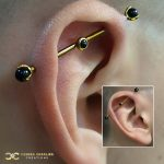 Industrial with Black Onyx Ends