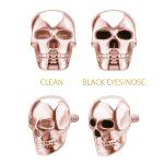 Skull Threaded Stud Earring, 18k Rose Gold